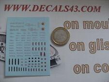 decal decalcomanie logo panhard pl17 24ct 24bt tigre relmax 1/43 1/18 db cd dyna