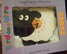Novelty Lamb Clock - Child's Bedroom Kitchen Dining Wall Clock Kitsch
