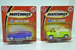 Matchbox Burger King Police Car and Fire Engine 2004