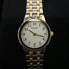 Sekonda Ladies woman's Two-Tone Party Time White Dial Watch *NEW **UK SELLER*