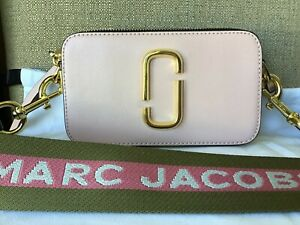 Marc Jacobs The Snapshot Rose Multi Crossbody Bag Authentic New Pink