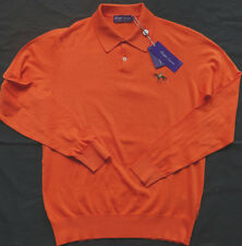 RALPH LAUREN PURPLE LABEL Langärmliges Polohemd aus Luxuriöser Baumwolle Gr M