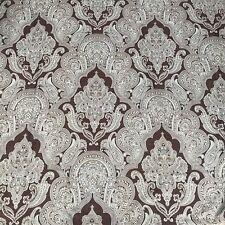 "Paisley Print Fabric Shower Curtain Brown Aqua & Gold 74"" Long x 72"" Wide"