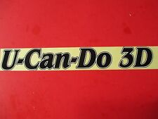 """GIANT U-CAN-DO 3D DECAL 17"""""""