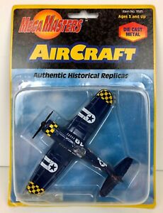 MegaMasters Aircraft Authentic Historical Replica Blue Die Cast #9585 NIP