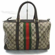 Gucci Hand Bag GG Sherry Browns PVC 1708330
