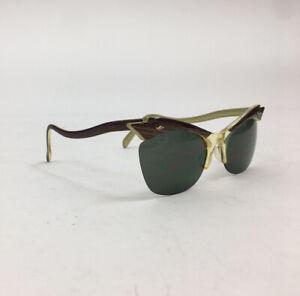 NWOT Vintage 1940s 50s Inspired Cateye Khaki Green Sunglasses