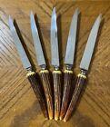 "CROWN CREST Sheffield England Bakelite Steak Knives 9 3/8"" Lot of 5"