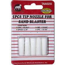 "5PC Tip Nozzle for Sand Blaster 9/64"" 1/8"" 7/64"" 3/32"" Sand Blast Gun"