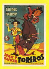 ACTORS  -  SPANISH  POSTERS  POSTCARD  -   ACTORS  -  LAUREL  &  HARDY