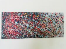 "Original Artwork Jackson Pollock Style Abstract Painting 70"" x 30"""