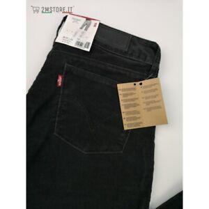 LEVI'S jeans in Velluto LEVIS 570 Nero STANDARD FIT Dritto VITA BASSA VINTAGE