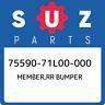 75590-71L00-000 Suzuki Member,rr bumper 7559071L00000, New Genuine OEM Part