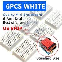 6pcs 6x White 170 Tie-points Mini Solderless Prototype Breadboard for Arduino