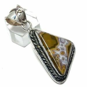 """Ocean Jasper Gemstone 925 Sterling Silver Jewelry Pendant 2.17"""" M1419"""