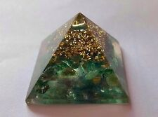 Reiki ENERGÍA CARGADO NATURAL Verde Jade Orgonica Pirámide Potente Generador De Energía
