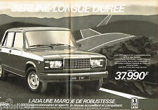 PUBLICITE ADVERTISING 085  1985  LADA 2107 ( 2 pages)