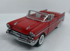 Franklin Mint Red 1957 Chevrolet Chevy Bel Air Convertible 1/43 Scale Die Cast