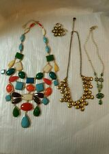 Liz Claiborne Jewelry Lot Statement Necklace Pin / Brooch