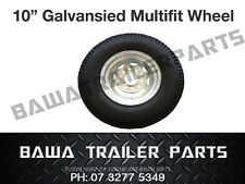 """10"""" Galvanised Multi-fit Boat Trailer Wheel with Tyre  - Trailer Parts!"""