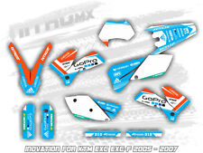 NitroMX Graphic Kit for KTM EXC EXC-F 125 250 300 450 525 2005 2006 2007 Enduro