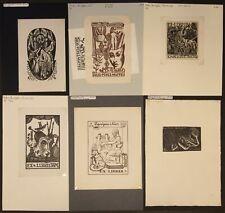 EX42121 EX Libris SPANISH ARTISTS mixed thematics & techniques fine