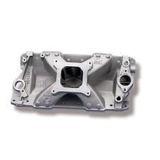 Weiand Intake Manifold 7530WND; Team G Single Plane Satin Aluminum for SBC