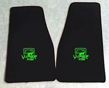 Autoteppich Fußmatten Chrysler Dodge Viper RT10 schwarz neongrün 2teilig Neuware
