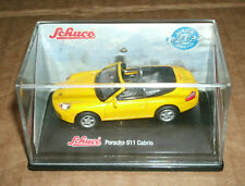 1/72 Scale Porsche 911 Cabrio 996 Carrera Diecast Model - Schuco Junior Yellow