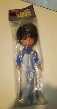 VTG Big Eyes Doll Fun World Blue Jeans Boy NIP NOS RARE VHTF Hippie 1970's MOD
