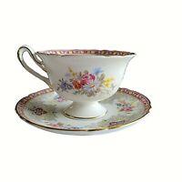SHELLEY GEORGIAN DAINTY FOOTED TEA CUP & SAUCER PLATE  #13361