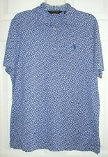 Mens RALPH LAUREN POLO Golf Blue Floral Polo Shirt Size L