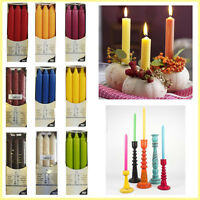 Candle Pillar Wax Table Candles Christmas Dinner Party Bistro Tapered NON DRIP