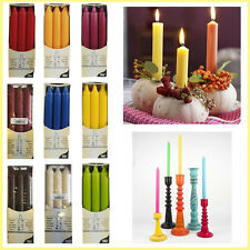 Candle Bistro Dinner Table Pillar Candles Tapered Color NON DRIP Christmas Party