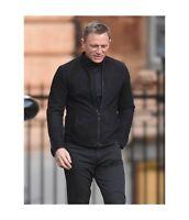Men's James Bond Specter 007 Genuine Black Suede Leather Jacket - All Sizes
