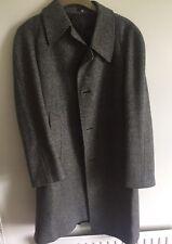 Crombie of Aberdeen mens pure wool Long overcoat Vtg  coat L Dunn Co