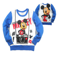 Cotton Mickey Mouse Velvet, Thickened  Kids Long Sleeve T-Shirt/Shirt New