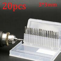 """20Pcs Tungsten Carbide Rotary Burr SET 1/8"""" Shank Milling Cutter Drill Bit"""