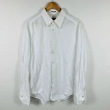 Hugo Boss Mens Button Up Shirt Size XL Slim Fit Embroidered Cuffs Long Sleeve