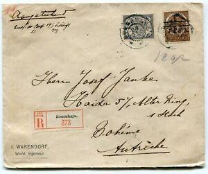 NL Indies registered cover Soerabaja to Austria 1909