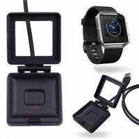 Hot! USB Cable Cradle Dock Charger For Fitbit Blaze Smart Fitness Watch Band WIS