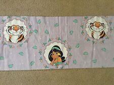 Disney Aladdin Princess Jasmine Raja Tiger Purple Floral Window Valance Single