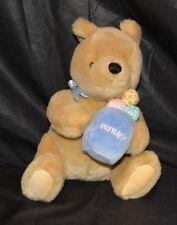 "Gund Classic Pooh Bear Stuffed Animal Plush Easter Basket 11"" Disney Character"