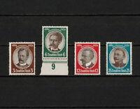 (YYAW 241) Germany 1934 MNH Mich 540 - 343 Scott 432 - 435 Third Reich Nazi