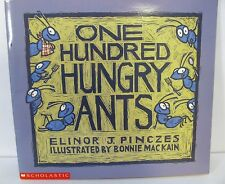 """Scholastic One Hundred Hungry Ants by Elinor Pinczes (1997) paperback 9""""x9"""""""