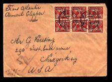 Netherlands 1941 Censor Cover / 7.5c Overprints (x6) - L9720