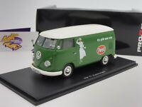 "Schuco 08929 # VW Bus T1 Box Van Baujahr 1963 grün "" Persil - Henkel "" 1:32 TOP"