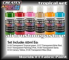 Createx Airbrush Colors Tropical 60ml Set  Importer Direct + Free Insured Post
