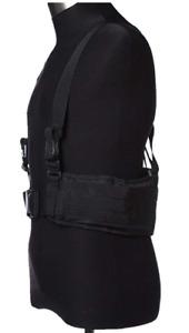 OneTigris Waist Belt with X-shaped Suspenders Airsoft Combat Duty Belt - Black