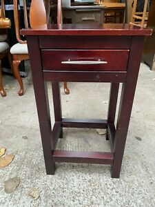 Modern Dark Wooden Console Hall Side Table with Drawer